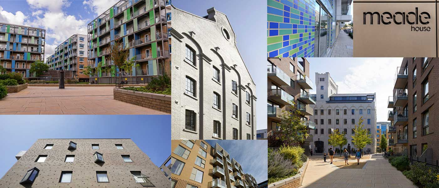 Montage of buildings in CB1 Cambridge