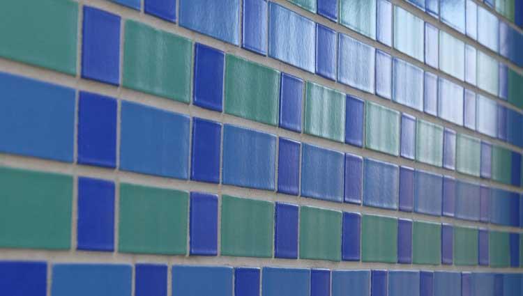 Picture of coloured bricks from Vesta apartment in CB1