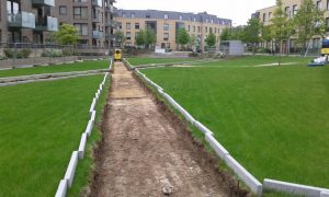 New footpath being built across central lawn in Mill Park