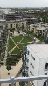 Aerial picture of works under way in Mill Park, CB1