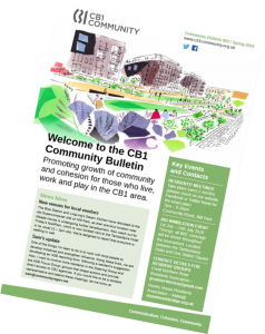 Front cover image of CB1 Community Bulletin Spring 2019
